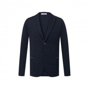 Шерстяной пиджак Gran Sasso. Цвет: синий