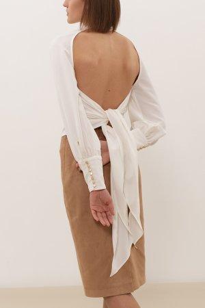 Блуза ЧЕРЕШНЯ. Цвет: молочный
