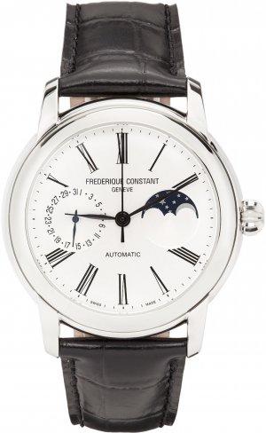 Black & Silver Classic Moonphase Watch Frédérique Constant. Цвет: silver/blac
