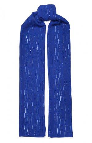 Шелковый шарф St. John. Цвет: синий