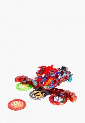 Игрушка Росмэн Дикие Скричеры. Маш-трансформер Хэви Армор S3. ТМ Screechers Wild. Цвет: красный