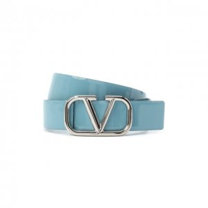 Кожаный ремень Garavani Valentino. Цвет: синий