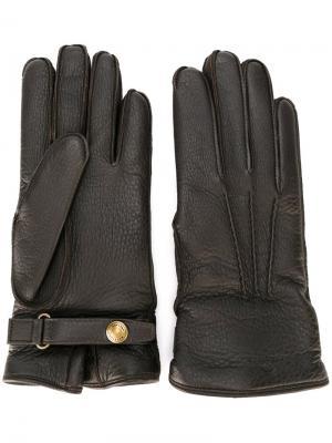 Классические перчатки Belstaff. Цвет: коричневый