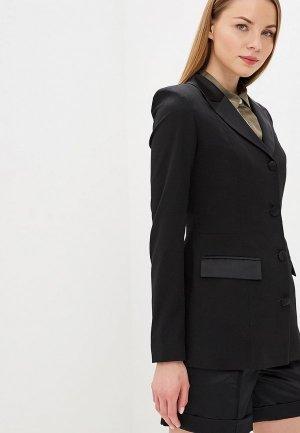 Пиджак Elena Andriadi. Цвет: черный