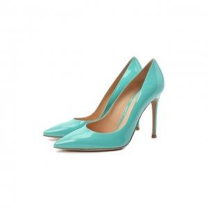 Кожаные туфли Gianvito 105 Rossi. Цвет: зелёный
