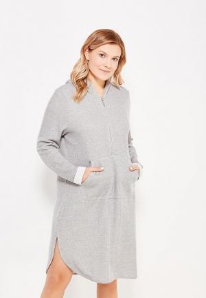 Платье Ulla Popken. Цвет: серый