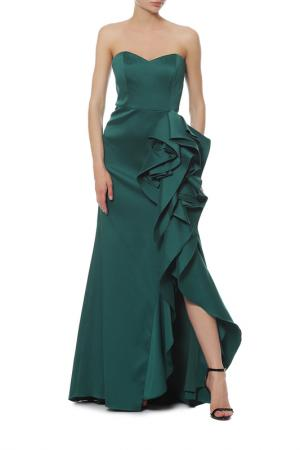 Платье Badgley Mischka. Цвет: зеленый