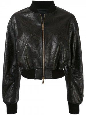 Куртка с принтом Roberto Cavalli. Цвет: черный