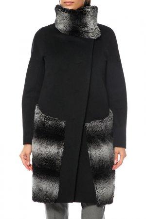 Пальто Анора. Цвет: черный