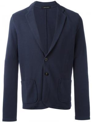 Classic blazer Roberto Collina. Цвет: синий