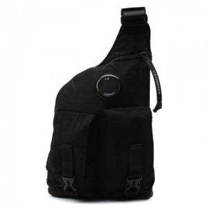 Текстильная поясная сумка C.P. Company. Цвет: чёрный