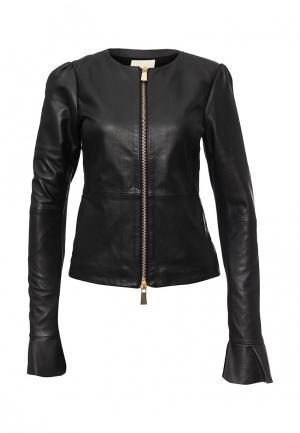 Куртка кожаная Pinko PI754EWJUR98. Цвет: черный