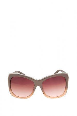 Очки солнцезащитные с линзами Swarovski. Цвет: 38f черный, золотистый