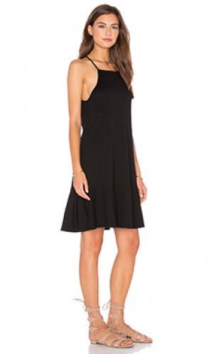 Мини платье с юбкой-солнцеклёш Lanston. Цвет: черный