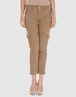 Джинсовые брюки-капри C'N'C' COSTUME NATIONAL. Цвет: верблюжий