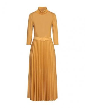 Платье миди B.YU. Цвет: охра