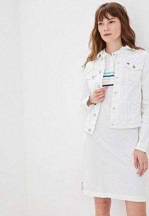 Куртка джинсовая Tommy Jeans. Цвет: белый