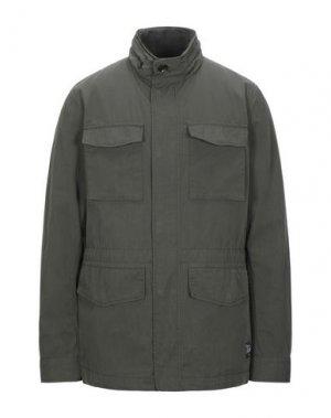 Легкое пальто ADHOC. Цвет: темно-зеленый