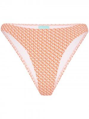Плавки бикини Cali с молнией Melissa Odabash. Цвет: оранжевый
