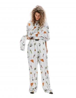 Пижамные брюки с принтами Vetements