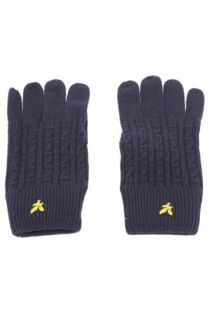 Перчатки Lyle & Scott. Цвет: темно-синий