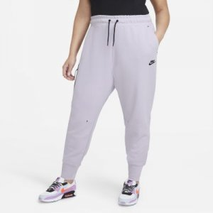 Женские брюки Sportswear Tech Fleece (большие размеры) - Пурпурный Nike