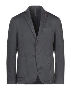 Пиджак FAG. Цвет: стальной серый
