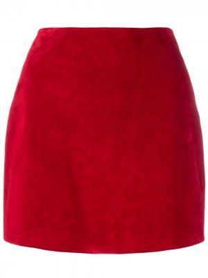 Мини-юбка Saint Laurent. Цвет: красный