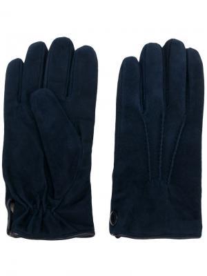 Большие перчатки Eleventy. Цвет: синий