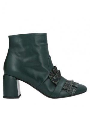 Полусапоги и высокие ботинки KALLISTÈ. Цвет: темно-зеленый