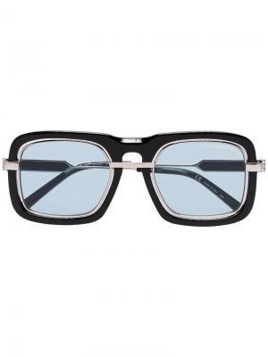 Солнцезащитные очки в толстой оправе с затемненными линзами Calvin Klein 205W39nyc. Цвет: черный