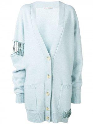 Декорированный кардиган Christopher Kane. Цвет: синий