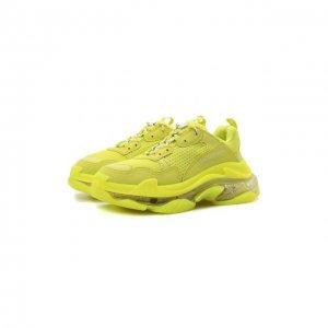 Кроссовки Triple S Clear Sole Balenciaga. Цвет: жёлтый