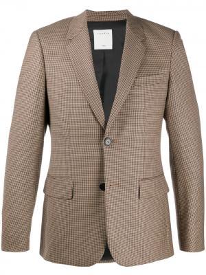 Однобортный пиджак в ломаную клетку Sandro Paris. Цвет: нейтральные цвета