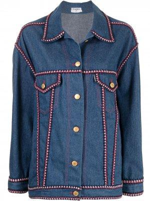 Джинсовая куртка с контрастной окантовкой Chanel Pre-Owned. Цвет: синий