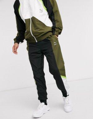 Джоггеры цвета хаки TFS-Зеленый Puma