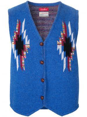 Твидовая жилетка Chimayo Coohem. Цвет: синий