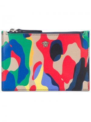 Бумажник на молнии Utiliflage Versace. Цвет: многоцветный