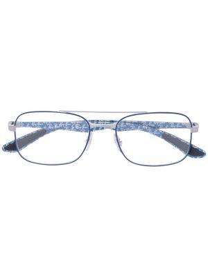 Очки с тонкой квадратной оправой Ray-Ban. Цвет: синий