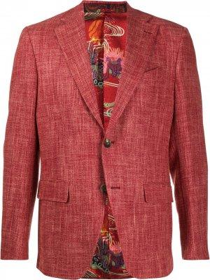 Однобортный пиджак ETRO. Цвет: красный