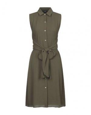 Платье миди ENRICO COVERI. Цвет: зеленый-милитари