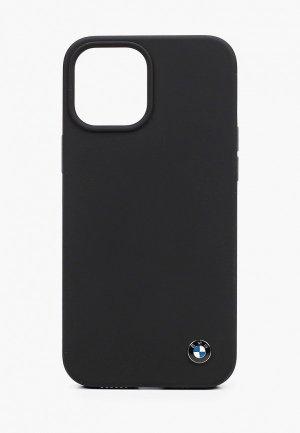 Чехол для iPhone BMW 12 Pro Max (6.7), Signature Liquid silicone Black. Цвет: черный