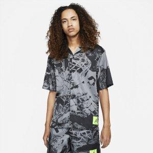 Мужская рубашка с коротким рукавом и принтом Jordan Flight - Черный Nike