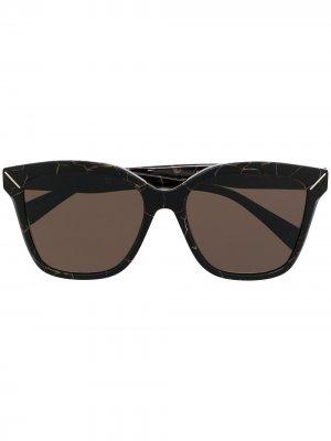 Солнцезащитные очки в квадратной оправе Yohji Yamamoto. Цвет: черный