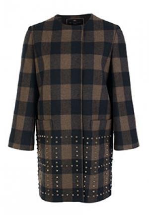 Пальто ETRO. Цвет: коричневый