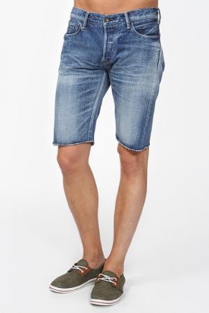Шорты джинсовые KURO. Цвет: синий