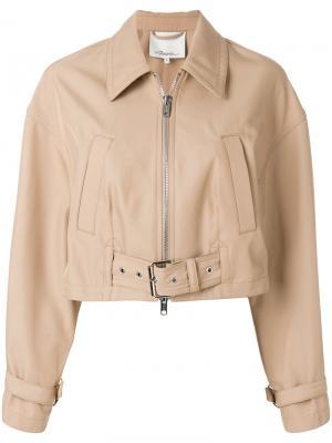 Байкерская куртка 3.1 Phillip Lim. Цвет: нейтральные цвета