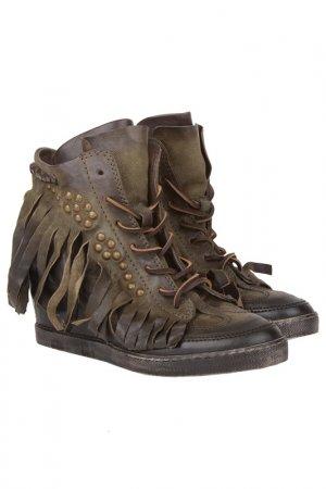 Ботинки Air Step. Цвет: зеленый
