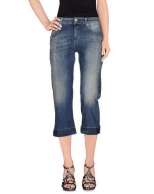 Джинсовые брюки-капри CARE LABEL. Цвет: синий