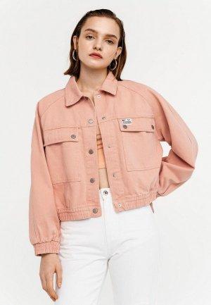 Куртка джинсовая Befree. Цвет: оранжевый